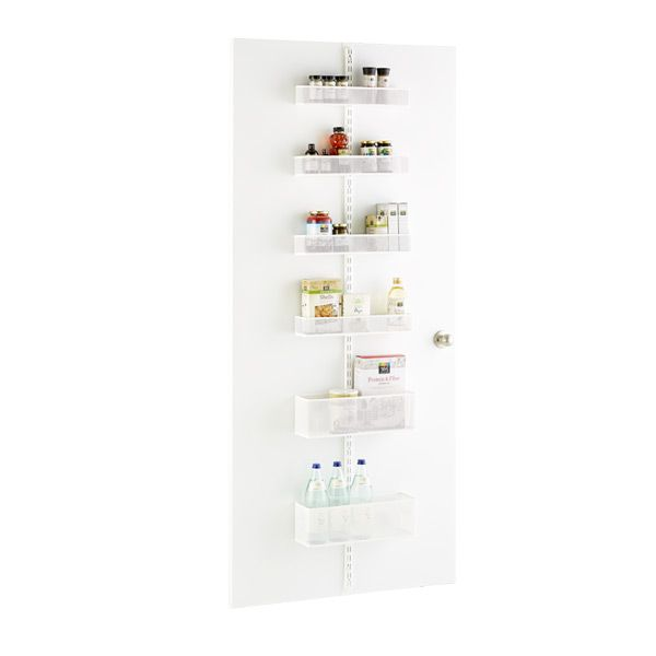 White elfa utility Mesh Pantry Door  Wall Rack Solution Wall
