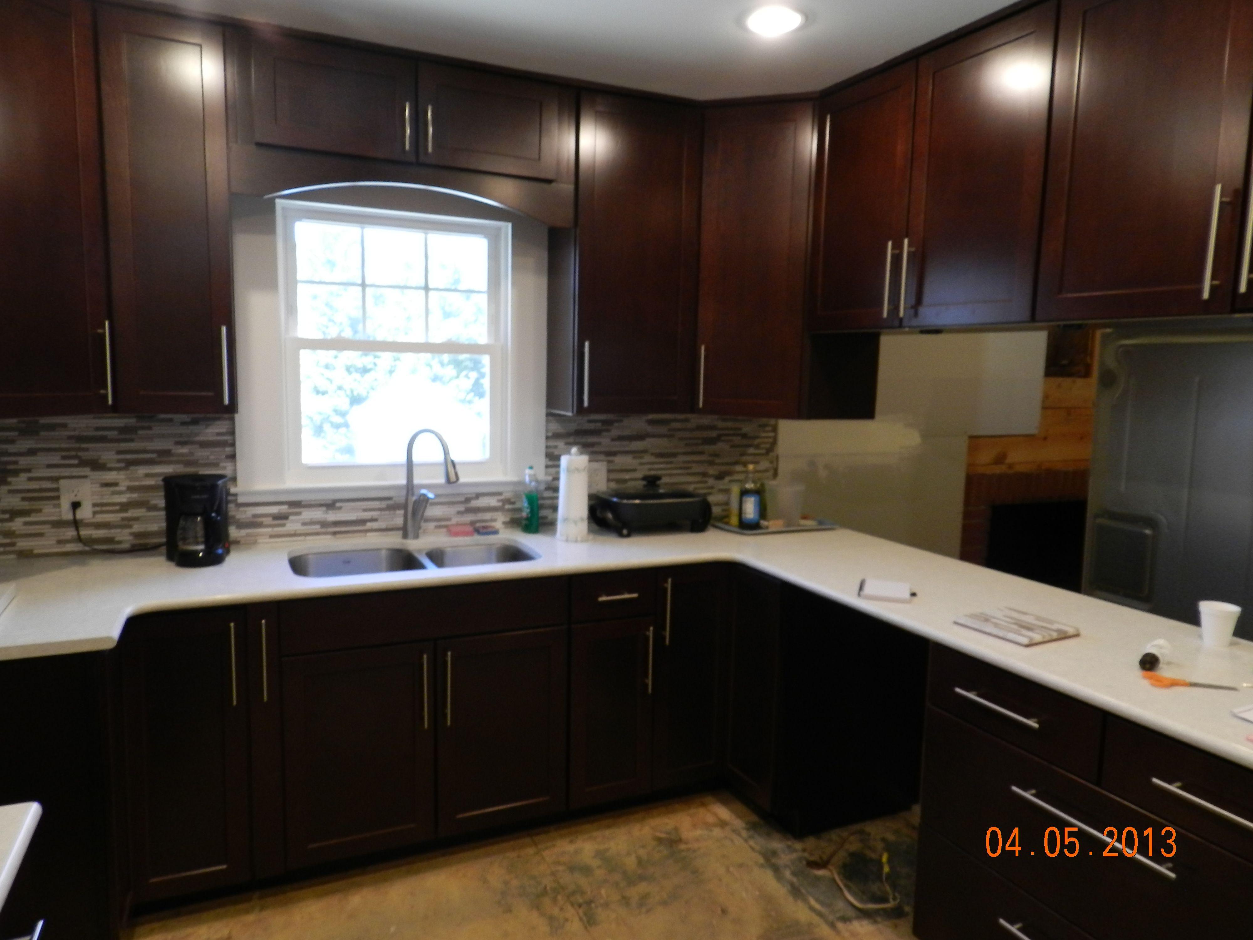 Waypoint Kitchen Cabinets Drop Leaf Table 410s Cherry Bordeaux Design By Carpet