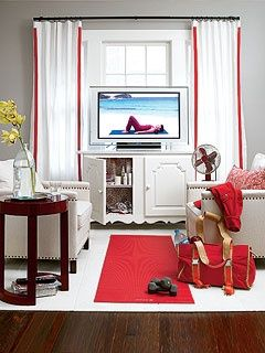 Tv In Front Of Windows Home Pinterest Cottage Living Rooms Flexible Furniture Cottage Living