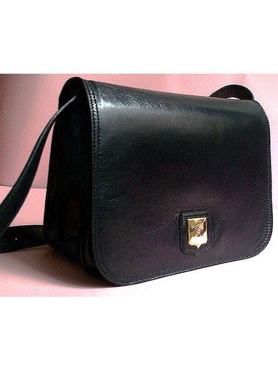 6c65a342fa authentic vintage CELINE PARIS LEATHER bag navy by lesclodettes ...