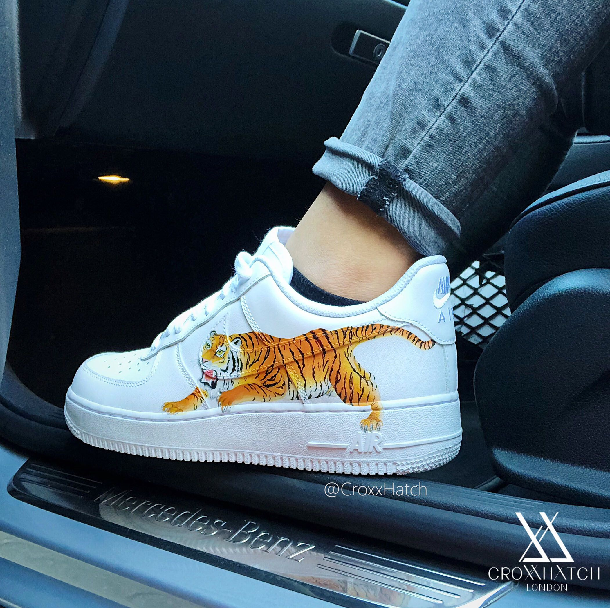 Tiger Custom Nike Air Force 1 Sneakers
