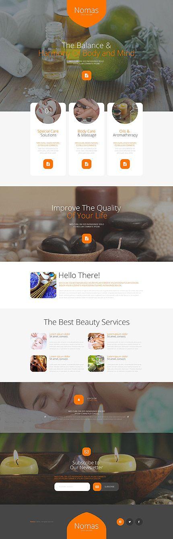 Spa salon Beautiful landing page template webdesign