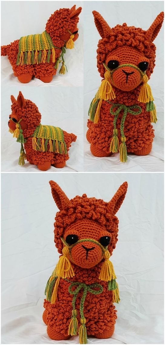 Free Crochet Llama Toy Pattern #crochetanimals
