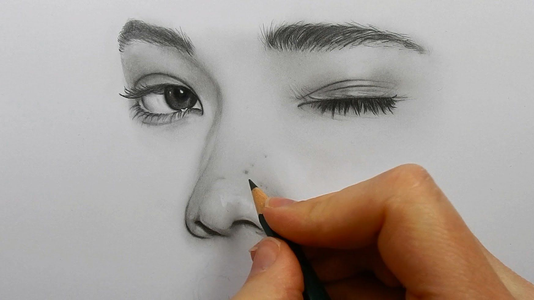 Drawing shading and blending a face with graphite pencils faber castell