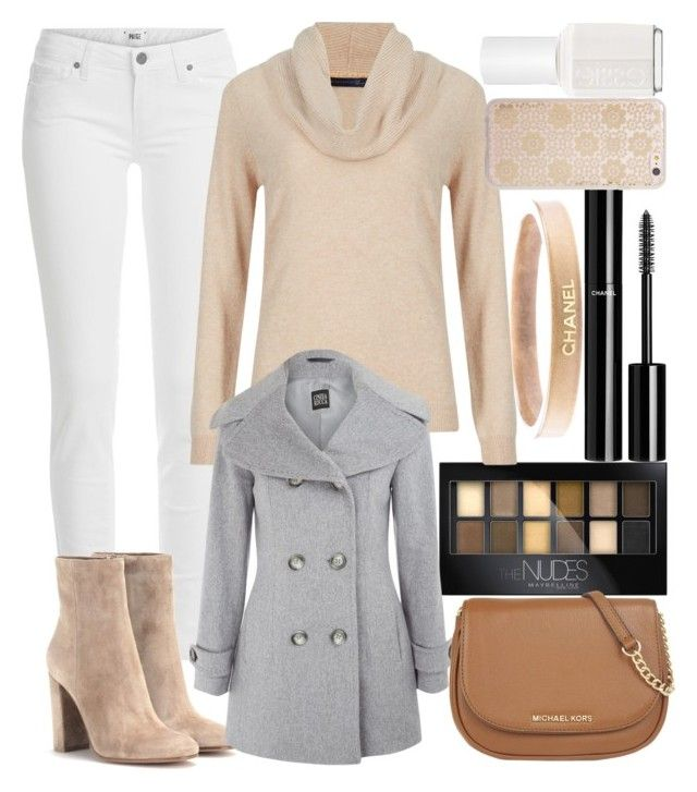 """Sandy Desert"" by unicorn-mc-rainbow ❤ liked on Polyvore featuring Chanel, Maybelline, Paige Denim, M&S Collection, Gianvito Rossi, Cinzia Rocca, MICHAEL Michael Kors, Sonix, Essie and women's clothing"