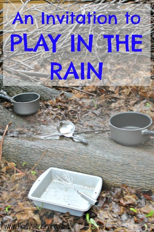 Surprise your preschoolers with this cute invitation to play in the rain.