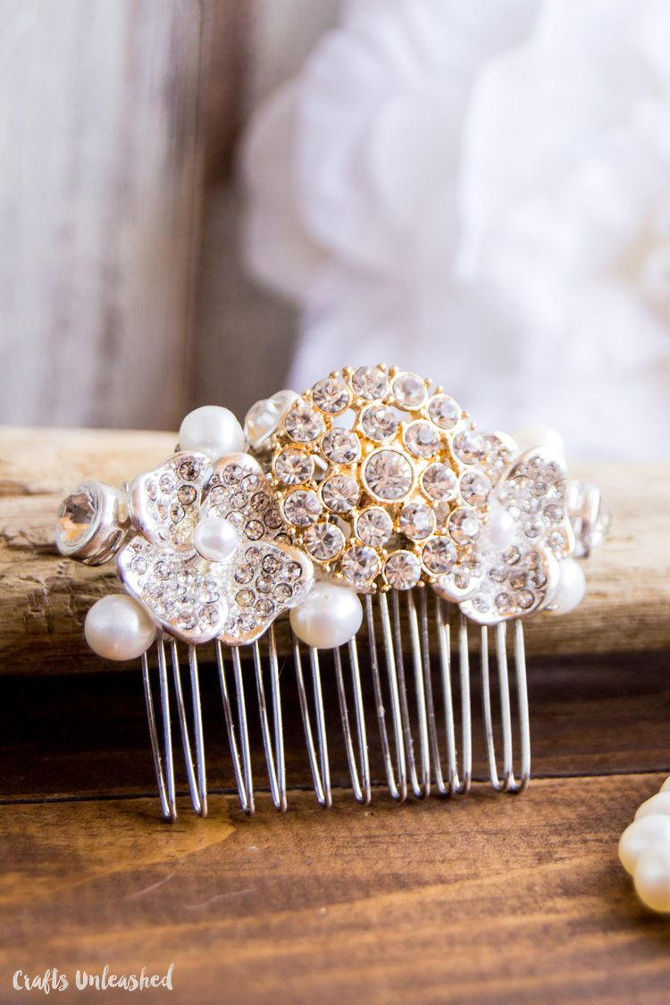 diy bridal crystal hair comb: step by step - consumer crafts