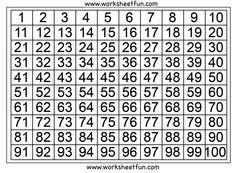 Number Chart 1 100 Free Printable Worksheets Number Chart 100 Chart Printable 100 Chart