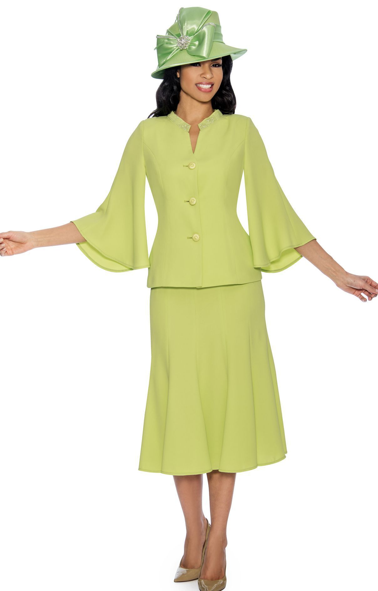 b7256347f4e Giovanna Usher Suit 0711-Lime - Church Suits For Less