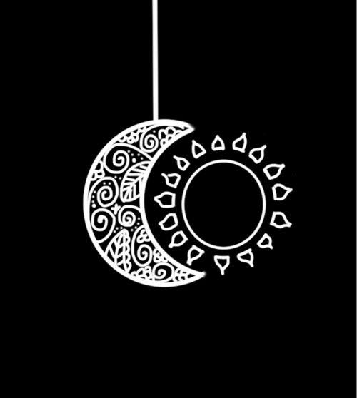 Sun And Moon Moon Sun Stars Pinterest Tatouage Soleil