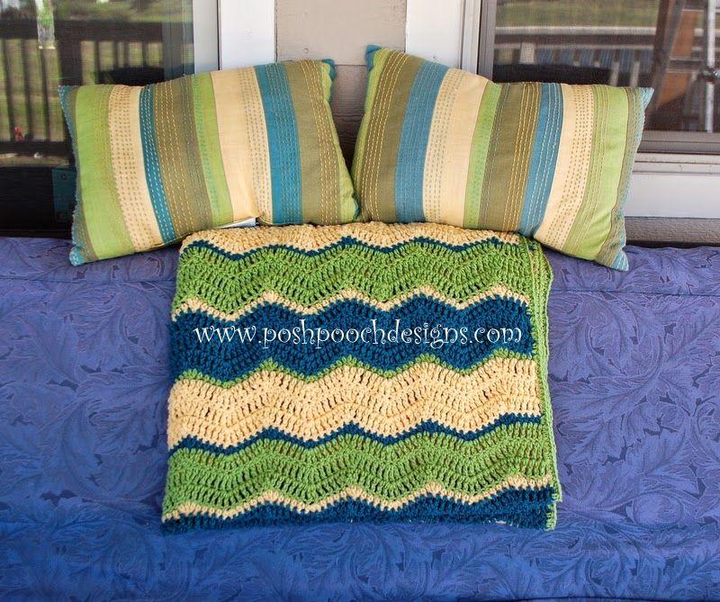 Triple Ripple Chevron Throw Crochet Pattern   Hook & Some Yarn ...