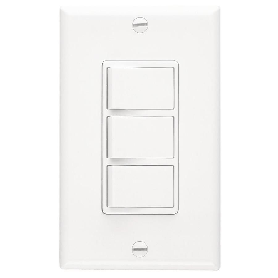 Broan Decorative Wall Controls 20 Amp White Rocker Residential Light Switch With Wall Plate P66w In 2020 Plates On Wall Home Depot Wall Fans