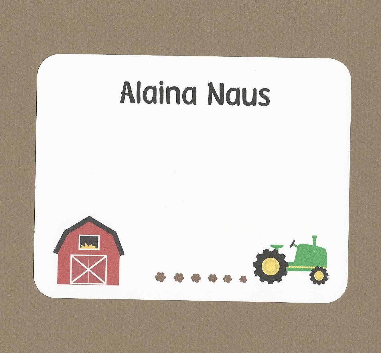 Farm Tractor Cards Green Tractor Cards Farm Thank You Cards