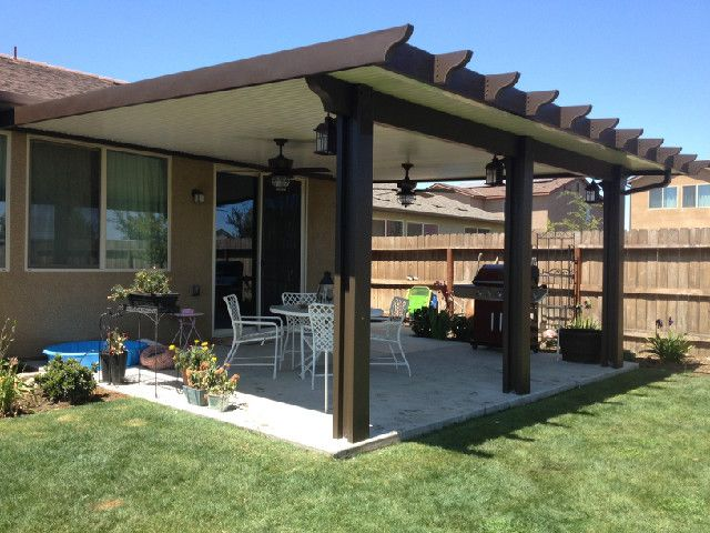 Wood Grained Aluminum Solid Patio