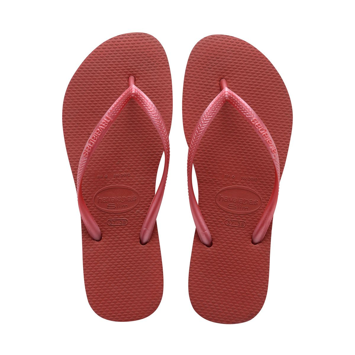 cc13308da 37 38 - Red - Women s Slim Thong Flip Flop Sandal