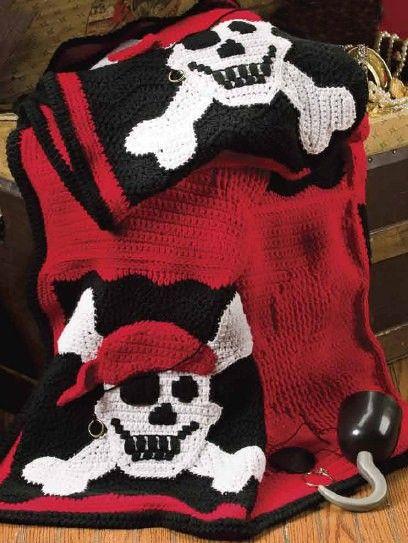 Pirate Halloween Blanket Crochet Pattern.Halloween crochet ...