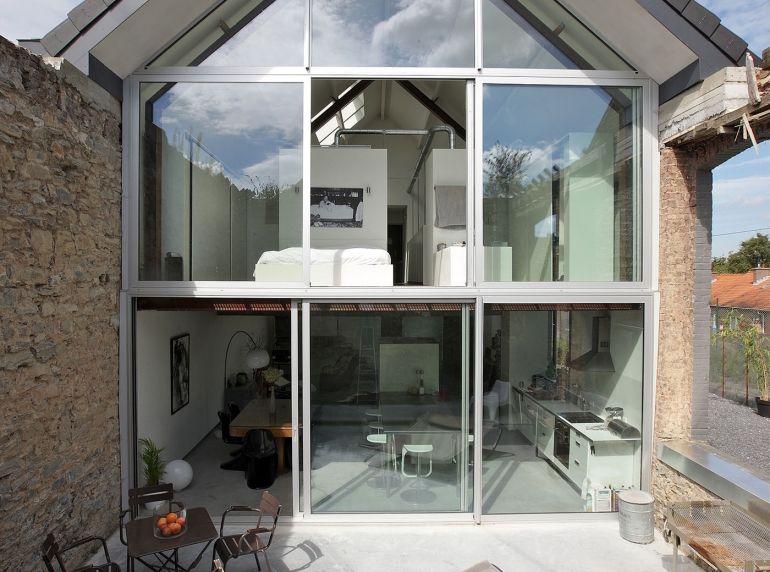 le boulodrome maison avec pignon enti rement vitr am nagement et d co pinterest. Black Bedroom Furniture Sets. Home Design Ideas