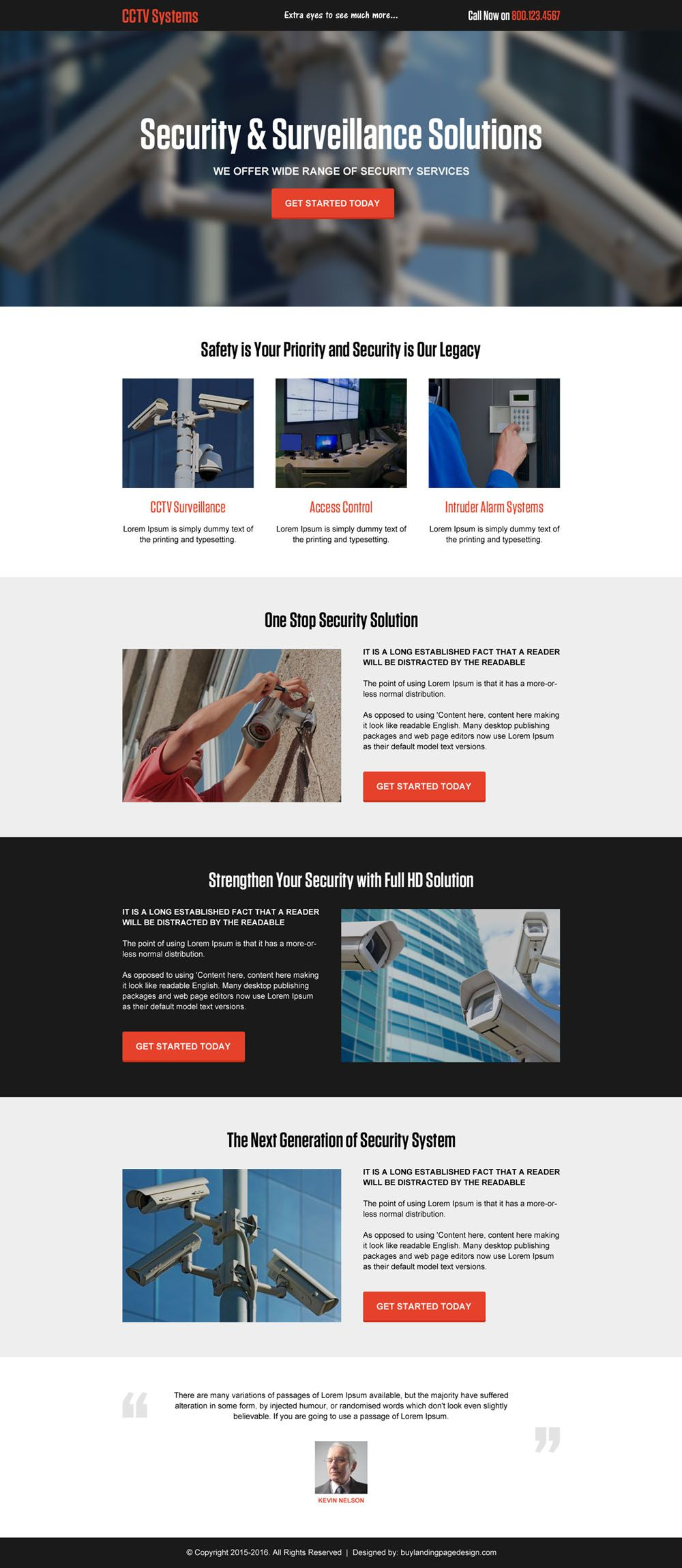 Cctv Security System Solution Responsive Landing Page Design Part 78