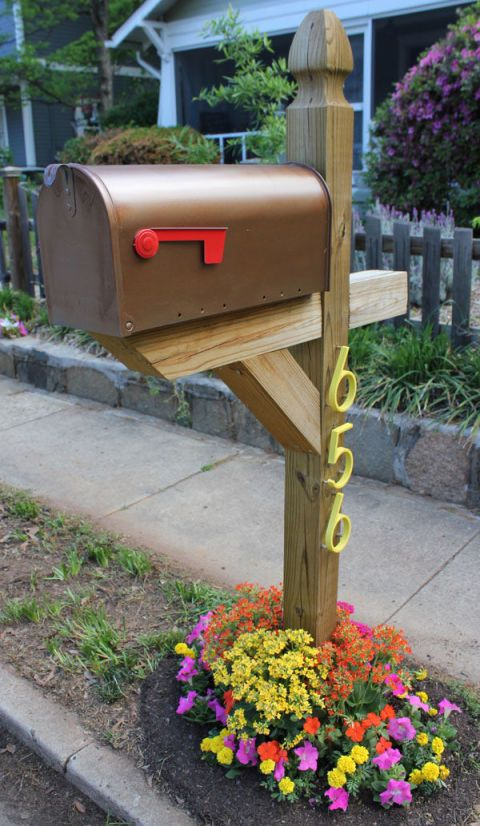 landscaping around mailbox post. Add Bursts Of Color By Planting Flowers Around The Base Your Mailbox. Get Tutorial At Home Depot. Landscaping Mailbox Post B