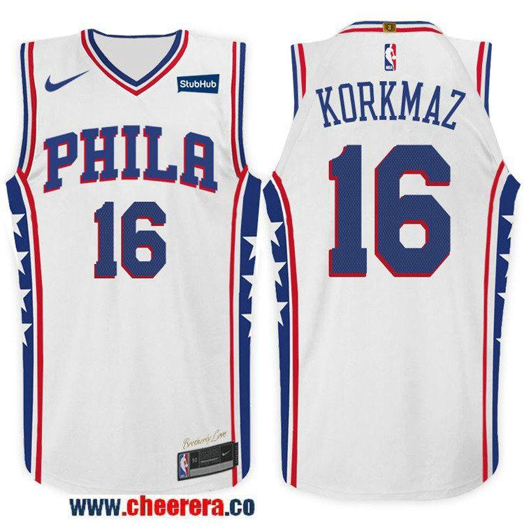 8f2487973e5 ... cheap mens nike nba philadelphia 76ers 16 furkan korkmaz jersey 2017 18  new season white 51ce3
