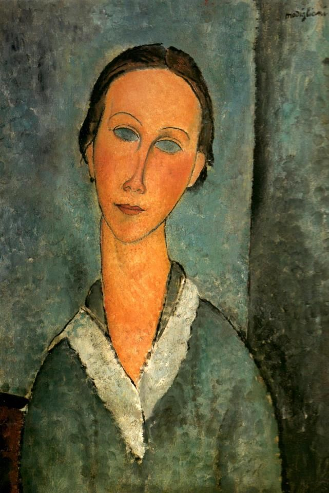 "Amedeo Modigliani ( 1884-1920) – ""Ragazza con blusa da marinaio"" – ""Girl in a Sailor's Blouse"" (1918) Olio su tela, 60.3 x 46.4 cm. MetropolitanMuseum of Art, New York, NY, USA"