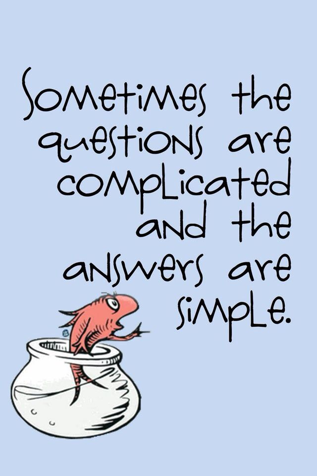 Charming Fish Wisdom From Dr. Seuss   Questions And Answer Quote