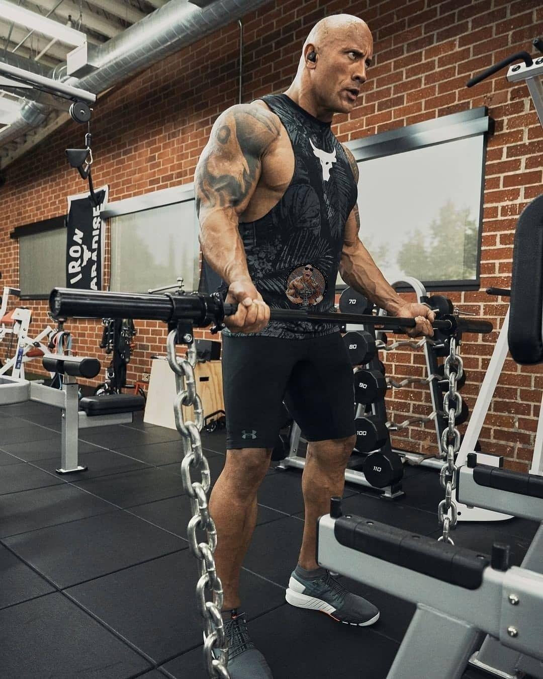 The Rock Johnson Chain Workout The Rock Dwayne Johnson Workout Rock Johnson