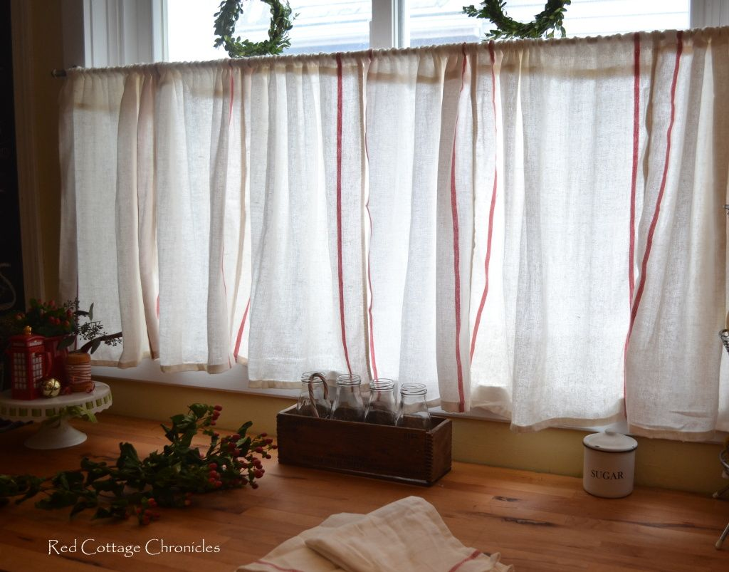 ikea dishtowel hack | cafe curtains, frugal and cafes