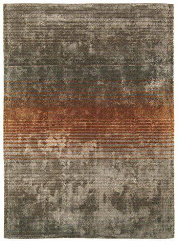 Teppich Wohnzimmer Carpet modernes Design HOLBORN STREIFEN RUG 100 - wohnzimmer orange beige