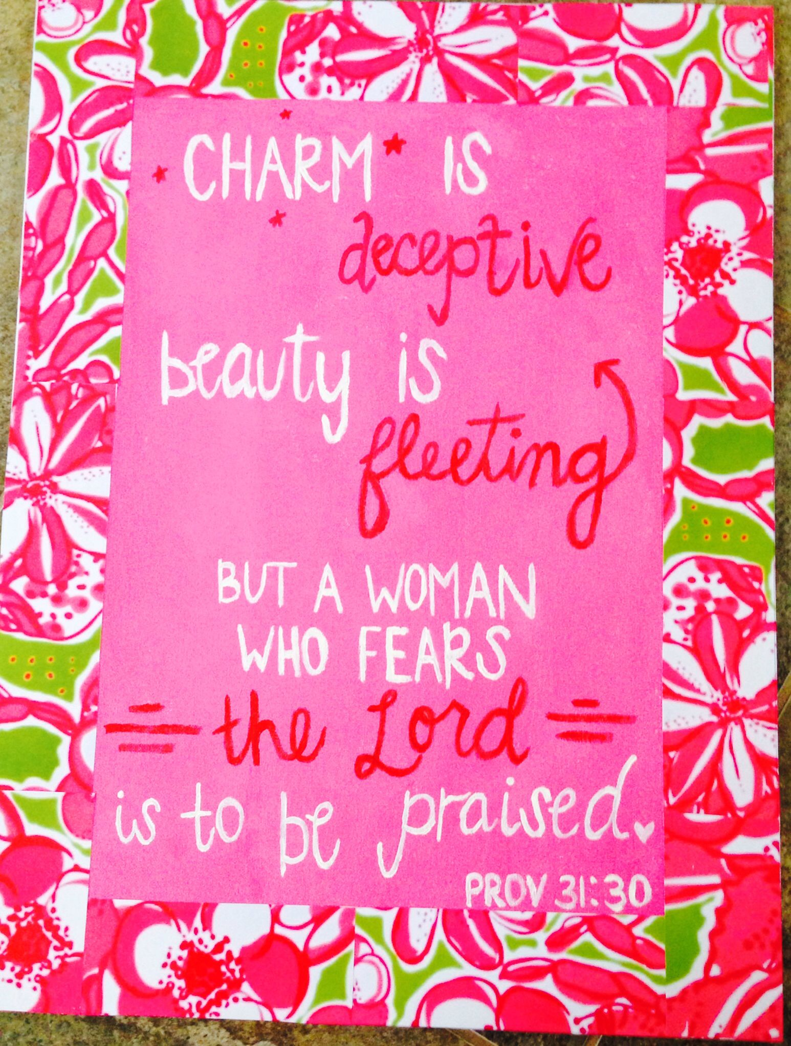 lilly pulitzer diy canvas bible verse college dorm painting step 1 print out a lilly - Cute Things To Print Out