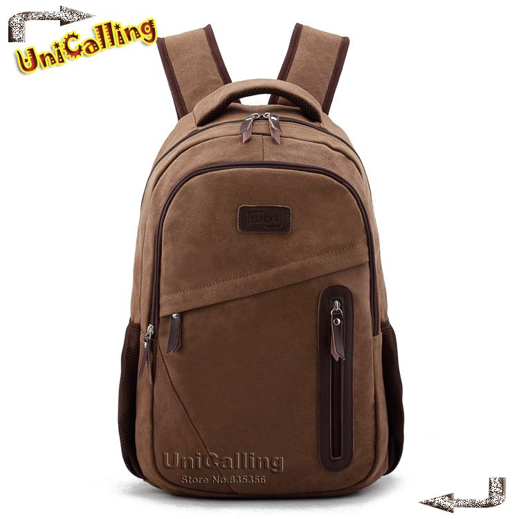 UniCalling Brand Canvas Backpacks fashion vintage canvas laptop backpack bag European and American school backpack retro style