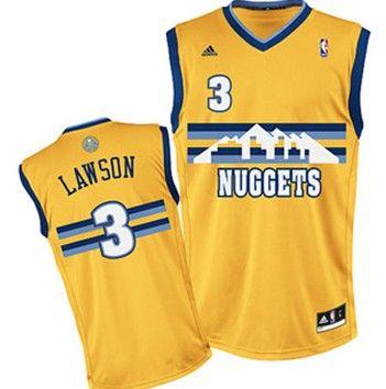 Denver Nuggets  3 Ty Lawson Yellow Swingman Jersey  e5646e8bf