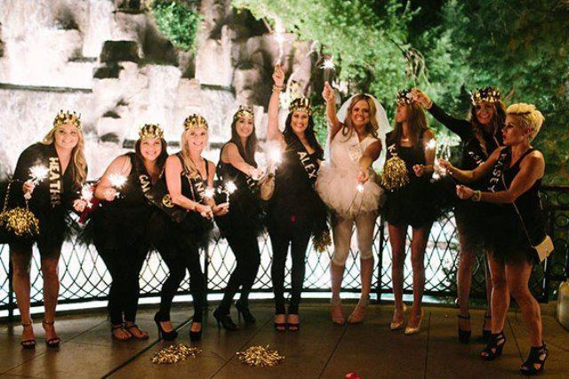 Black, Pink And Gold Bachelorette Party In Las Vegas - Weddingomania