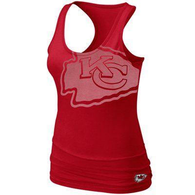 12351623 Nike Kansas City Chiefs Women's Big Logo Tri-Blend Tank - Red in ...