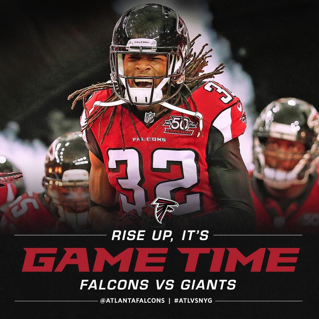 We Are Underway At Metlife Atlvsnyg Riseup Falcons Atlanta Falcons Falcons Nfc South