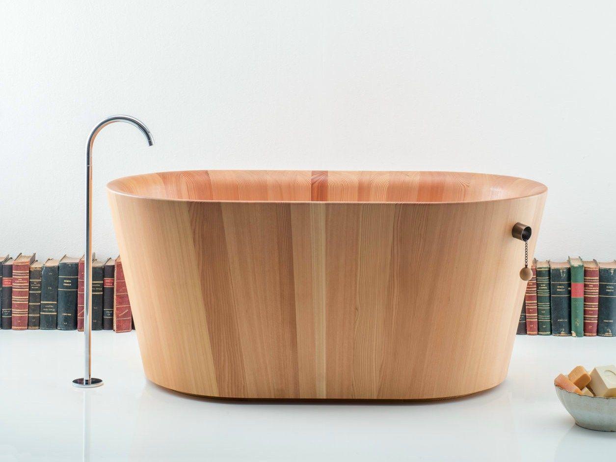 Vasca Da Bagno Ofuro : Vasca da bagno centro stanza ovale in legno ofuro by rapsel