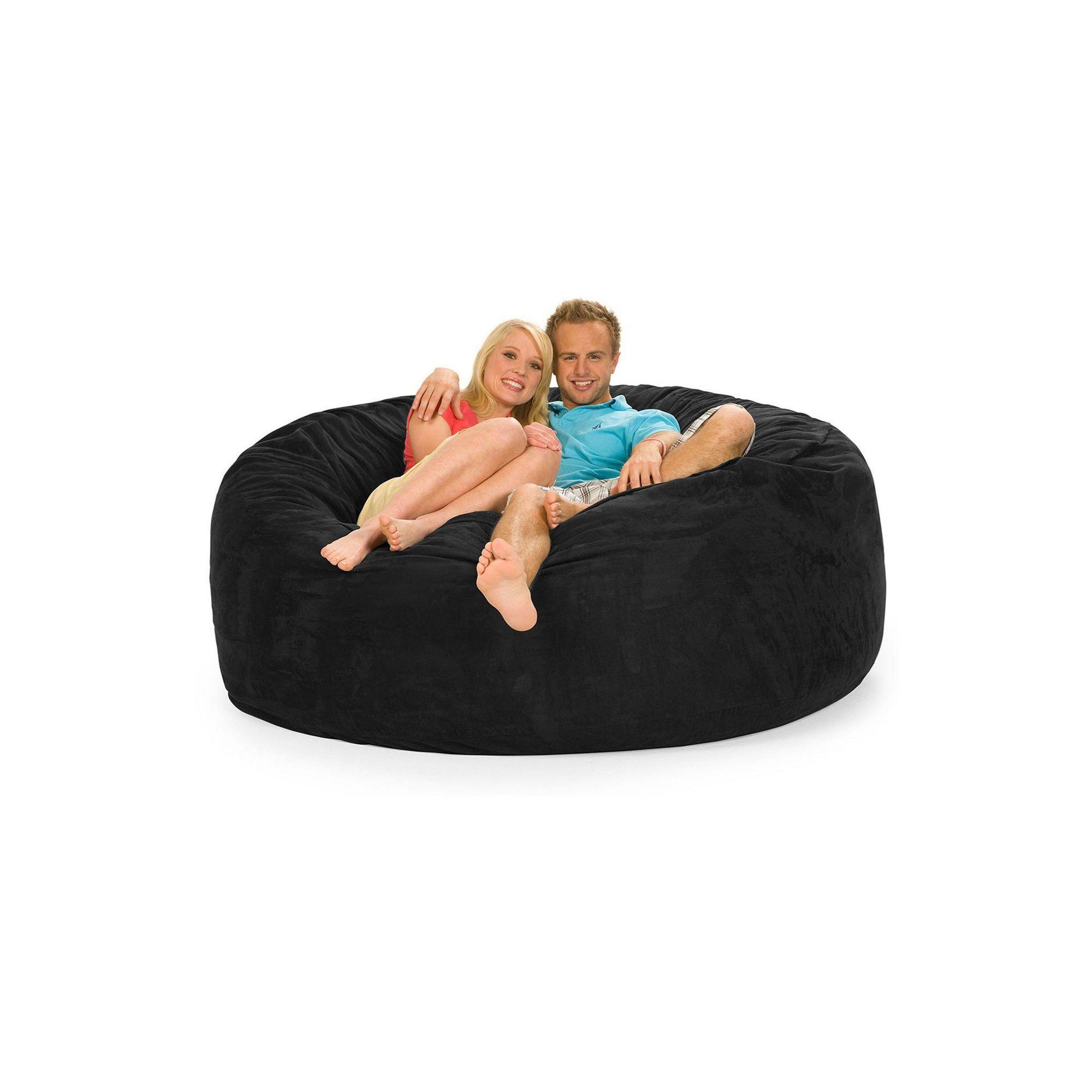 Phenomenal Huge Memory Foam Bean Bag 6 Ft Black Relax Sacks Tuck Uwap Interior Chair Design Uwaporg