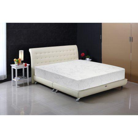 Tobia 10 Inch Gemma Foam Plush Mattress Multiple Sizes White
