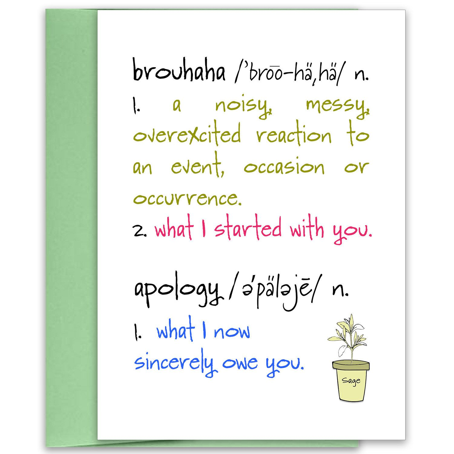 Brouhaha apology card im sorry card funny apology funny im brouhaha apology card im sorry card funny apology funny i kristyandbryce Gallery