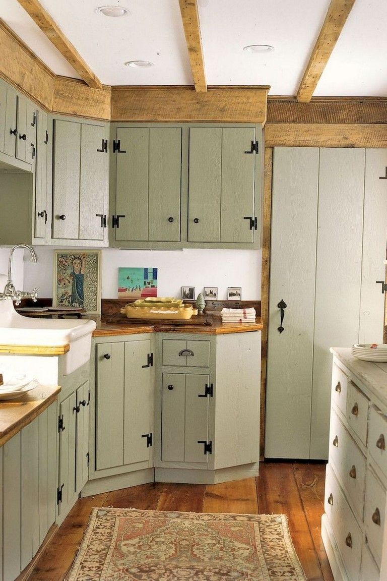 115+ Elegant Modern Rustic Farmhouse Kitchen Cabinets Ideas #farmhousekitchencolors