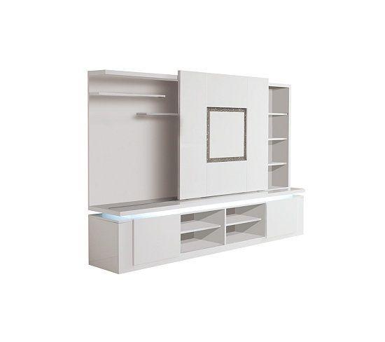 mur tv riva blanc strass meubles tv but mur tv meuble tv et strass. Black Bedroom Furniture Sets. Home Design Ideas