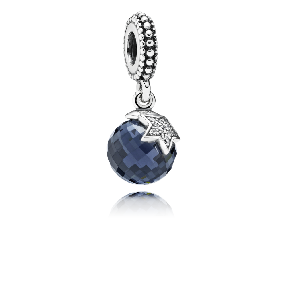 798c84e6e2f Charm Pendentif Lune et Etoile Bleu Nuit - Pandora FR