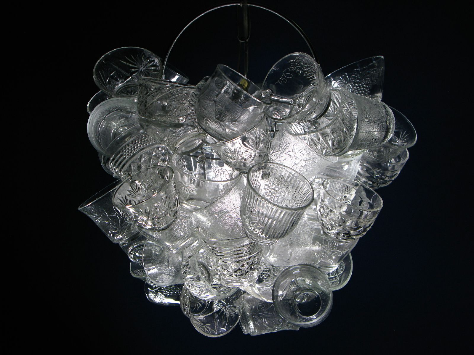 Chandelier made of punch cups decormaniac pinterest chandelier made of punch cups arubaitofo Choice Image