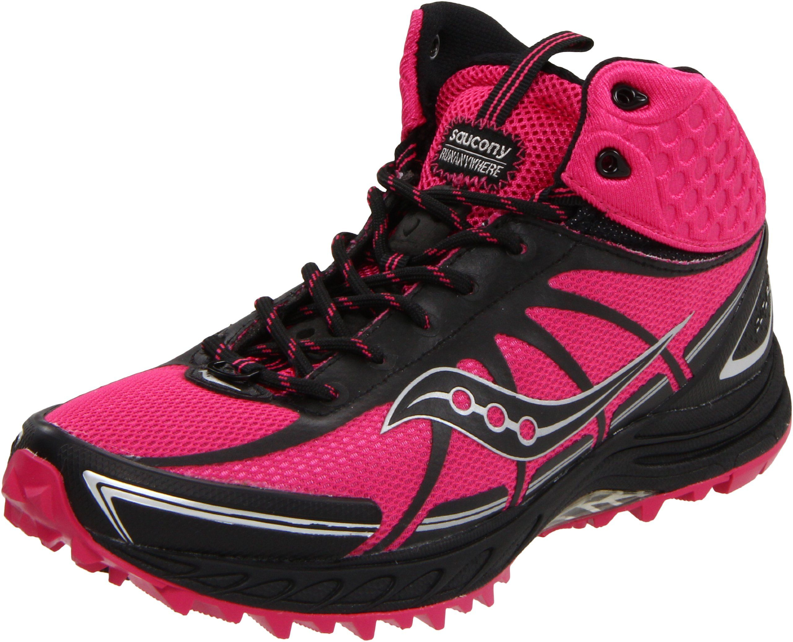 Saucony Women's Progrid Outlaw Trail Running Shoe,Pink/Black,6.5 ...