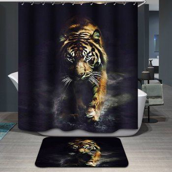 Tiger Pattern Printing Waterproof Shower Curtain Future Pinterest