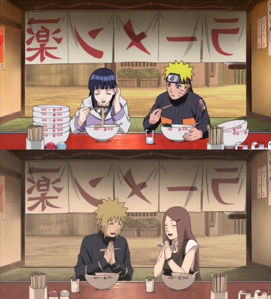 Naruto e Hinata - Minato e Kushina