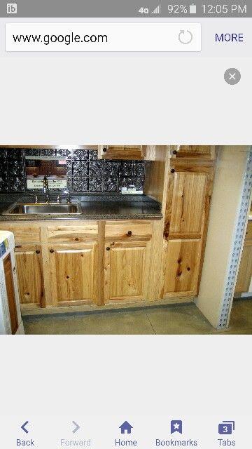Iog cabin kitchen) Lowe\u0027s Denver - Hickory Camp, Cottage Style