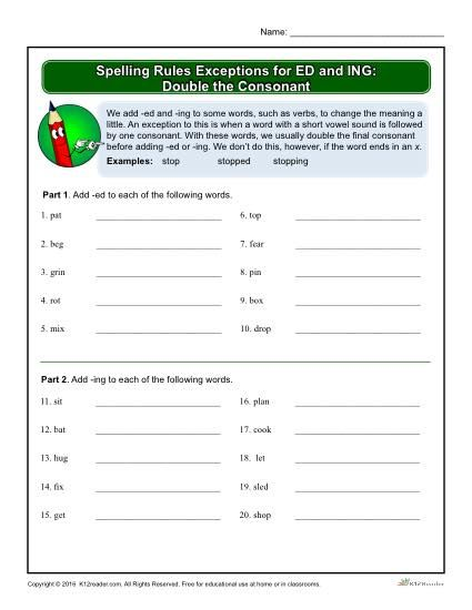 12++ Suffix spelling rules double letters worksheets 1st Popular
