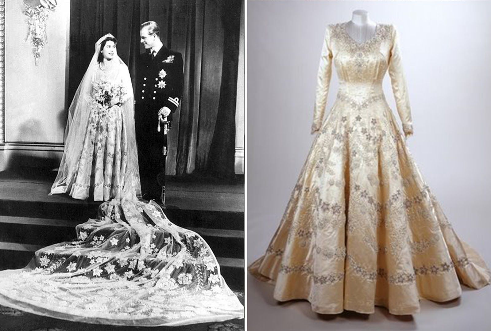 Norman Hartnell S Wedding Dress That He Designed For The Queen