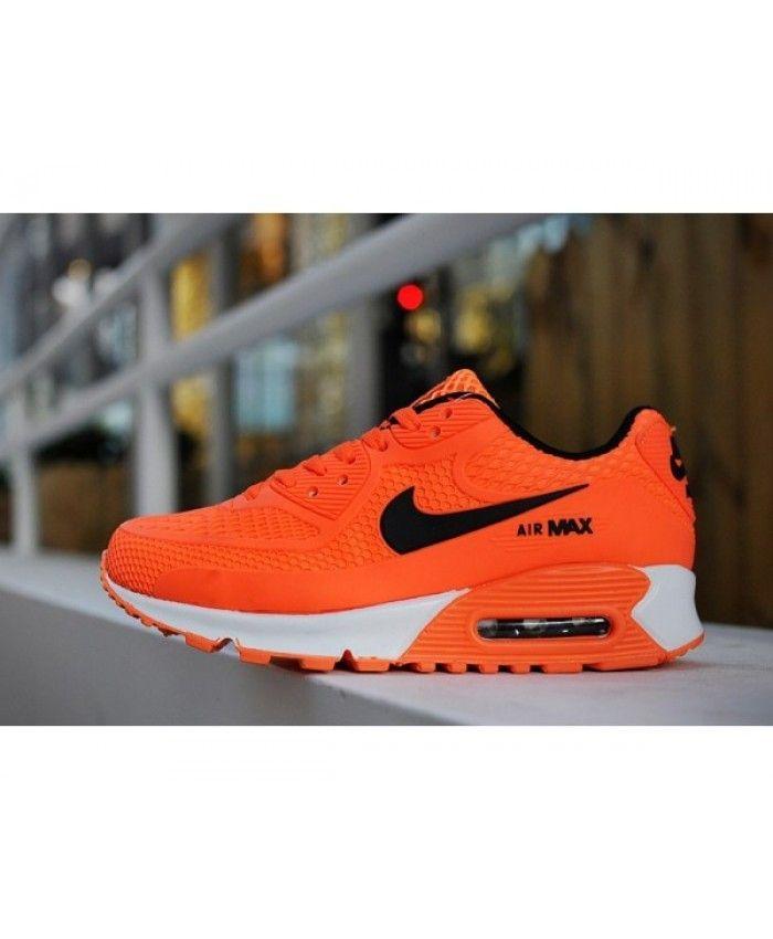buy popular 997ba fe26b Kids Nike Air Max 90 Orange 6809331-036